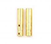02 Conectores Bullet Gold 4mm Fêmea