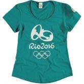 Camiseta Malwee Olimpíadas Estampada Rio 2016 Verde - Feminina
