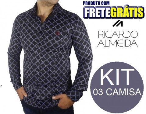 KIT 03 CAMISA RICARDO ALMEIDA ESTAMPADA - CAMISA RICARDO - Loja de ... 232e96a39c9a8
