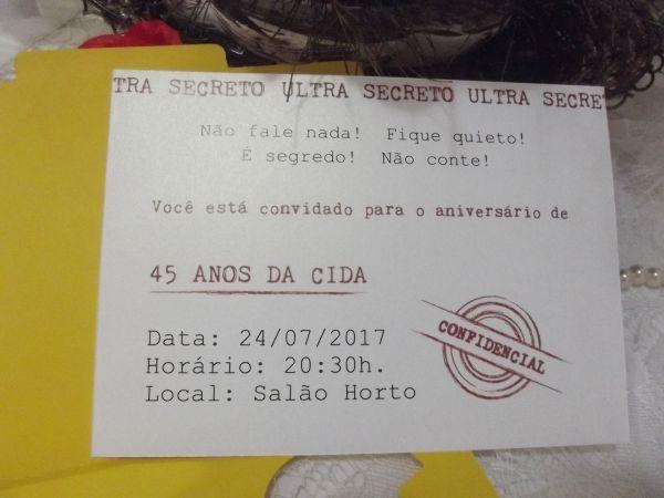 CONVITE ANIVERSÁRIO SURPRESA  - PERSONALIZADO PROMOÇÃO CIDA