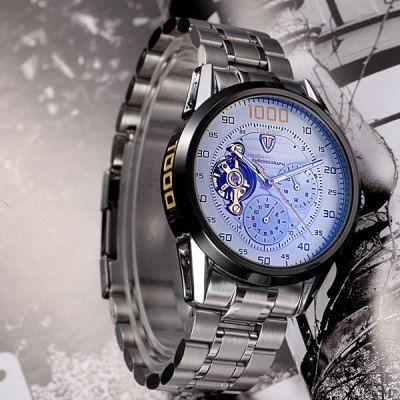 b5efdfe6911 Relógio Mecânico Automático Tevise 8378 Masculino Pulseiras Aço Inoxidável