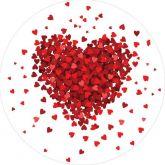 Papel Arroz Corações Redondo 010 1un
