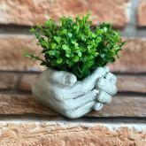 Vaso Decorativo Mãos Cimento Sem Suculentas Para Plantas Mao