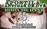 APOSTILA CANTIGAS DE OYÊ, RODA DE BANI (ENTREGA DE CARGO) + ÁUDIO