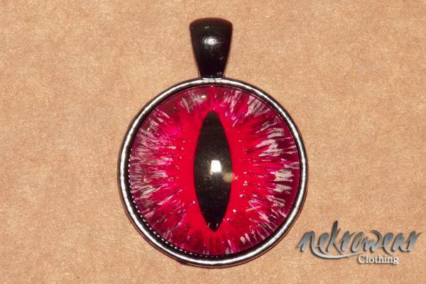 Pingente de Olho de Réptil Vermelho
