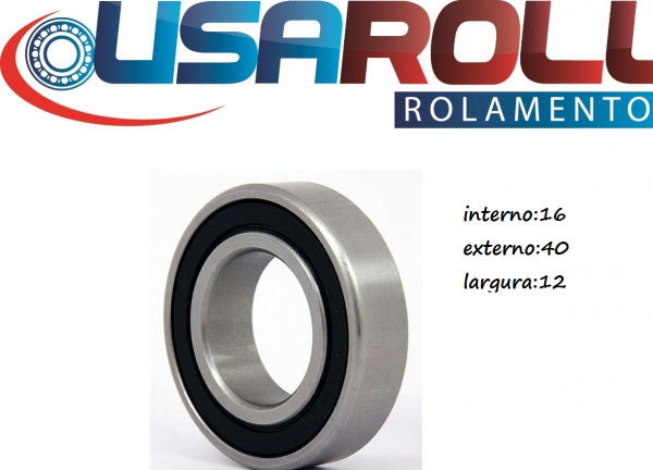 16x40x12= 6203-16-2rs MR6203-2RS/16, 16x40x12 mm rolamento de esfera