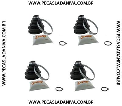 Coifa da Junta Homocinética kit  c/ 4 Peças Niva 1ª Linha (Nova) Ref.0481