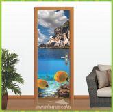 Adesivo Porta - Aquário - Natureza 001