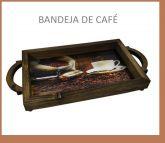 bandeja madeira de café