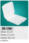 M-106F BANDEJA C/ TAMPA ARTICULADA C/ 200 UN.