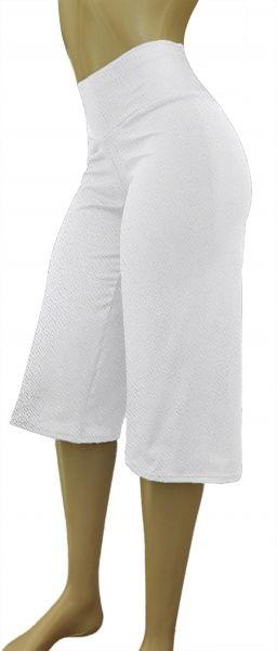 pantacourt branca (P-M-G), crepe de malha, gramatura média