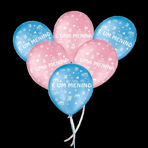 Balão Decorado Chá de Revelação Nº25un