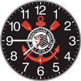 Relógio Parede Corinthians Paulista Preto