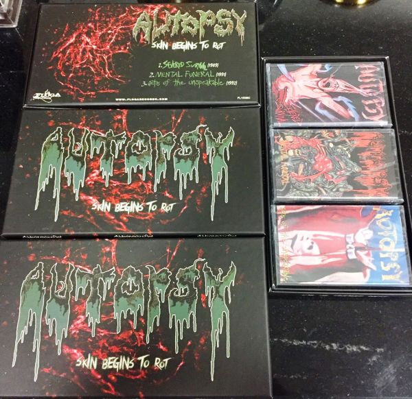 AUTOPSY - SKIN BEGINS TO ROT - CASSETE BOX