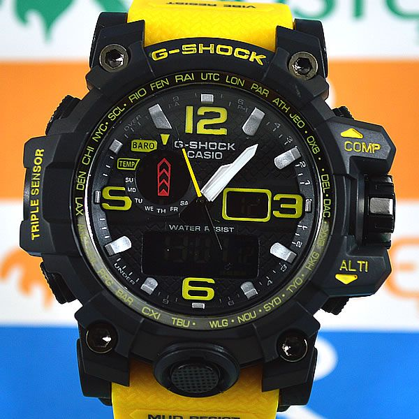 9b8b9c7e91f Relógio Casio G-Shock Mudmaster Preto Pulseira Amarela Masculino ...