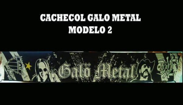 Galo Metal - Cachecol Modelo 02
