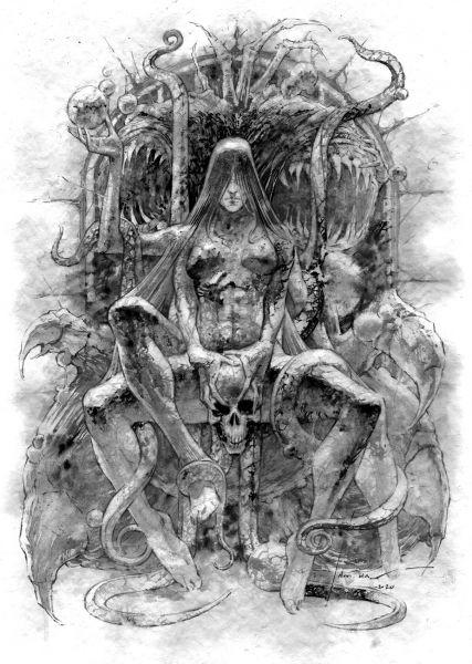 Arte original livro NECRONOMICON - 02