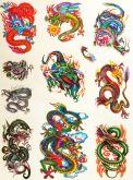 Kit Com 60 Tatuagens Dragões