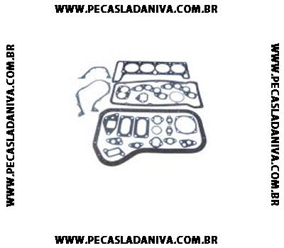 Jogo de Juntas do Motor Completo Niva 1.6 8V Com Retentores Ref. 0717