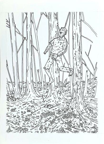 Zumbis para colorir, arte original, pág 53