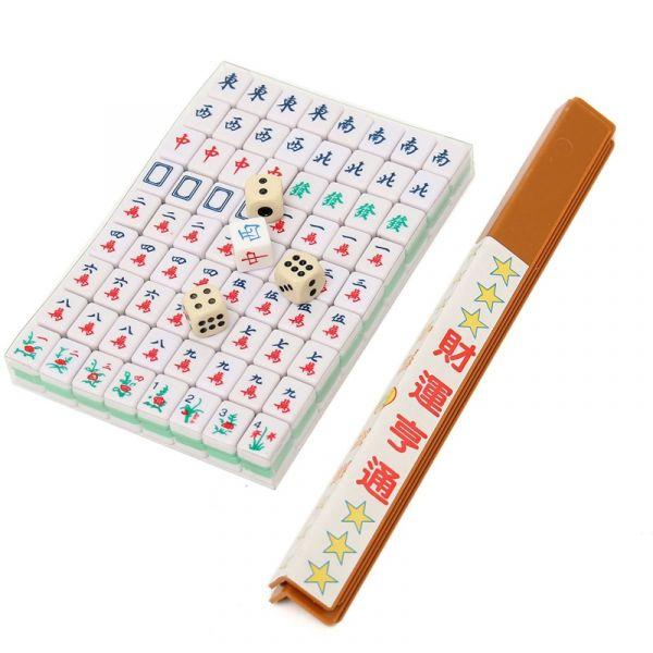 Mini Jogo Mahjong De Tabuleiro Chinês Portátil Retrô