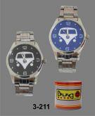 3 - Relógio Kombi - Cromado