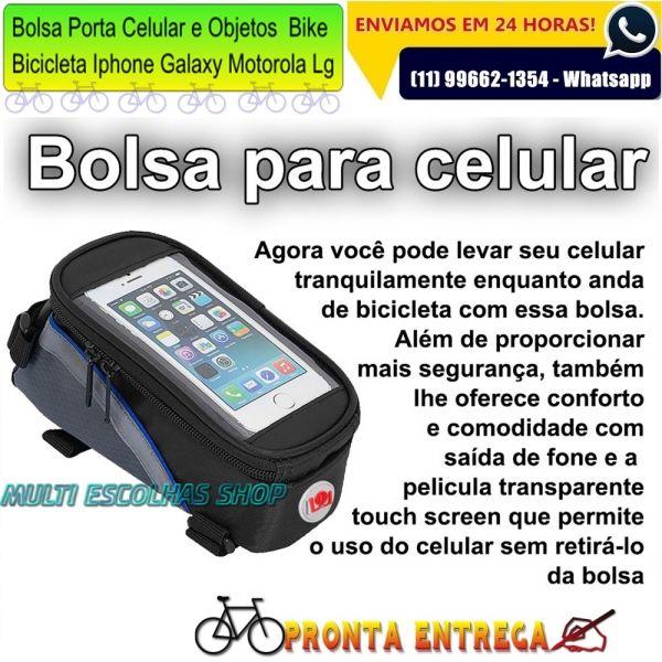 Bolsa Para Levar Cachorro Na Bicicleta : Bolsa porta celular e objetos suporte quadro bike