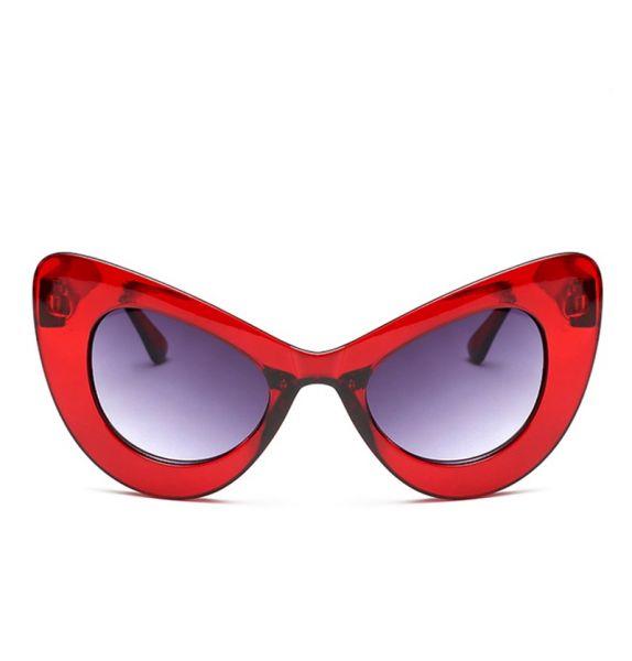 Óculos Lady Goth Dark Red