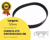 Correia Rexon HTD  8M 1032 50mm - Borracha (1032 8M) Sincronizadora