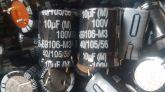 ELETROLÍTICO 10X100 105ºC 16X21MM EPCOS 10ufx100v PRÉ-CORTADO
