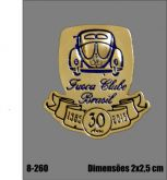 8 - Boton Fusca Clube Brasil - 30 anos - Dourado