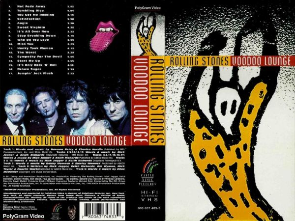VHS - Rolling Stones - Voodoo Lounge