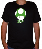 camiseta Super Mario - 1UP vida