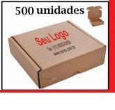 Caixa de Papelão para envio Correio S-04 C:34,5 x L:28 x A:14,5 cm - Parda (500 unidades)