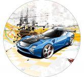 Papel Arroz Hot Wheels Redondo 005 1un