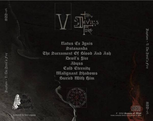Baptism – V: The Devil's Fire - CD