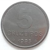 5 Cruzeiros 1985 FAO SOB/FC