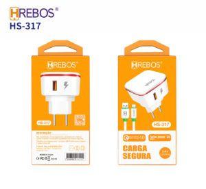 Kit Carregador Lightning HREBOS HS-317