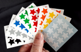 Adesivos Estrelas 8 Cores - Star Stickers 15mm