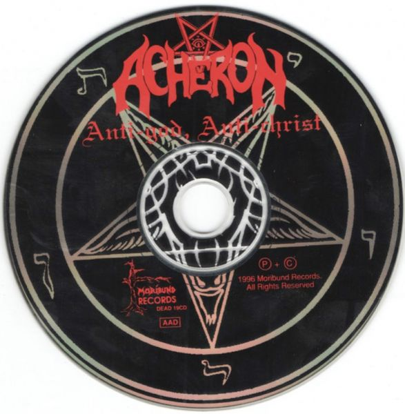 ACHERON - Anti-God, Anti-Christ - CD