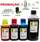 1350ml -kit Tinta Recarga Cartuchos Impressora Hp + Snap