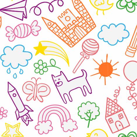 Papel de parede infantil brinquedos multicor papel 083 for Papel decomural infantil