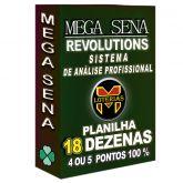 Planilha MEGA-SENA com 18 dezenas 100 apostas 4, 5 ou 6 pontos 100%