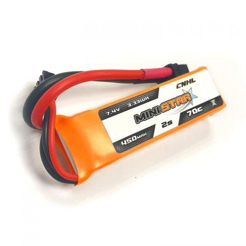 Bateria Lipo CNHL MiniStar 2S 7.4V 450mah 70C XT30