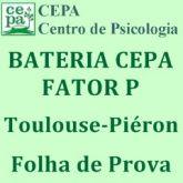24.09 - Bateria Fatorial CEPA - Fator P - Toulouse - Piéron - Bloco c/ 25 Folhas de Prova