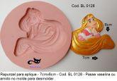 molde aplique princesa Rapunzel