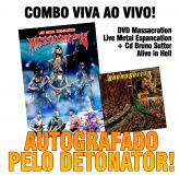 Combo Viva ao Vivo: DVD Massacration + CD Alive in Hell (AUTOGRAFADOS)