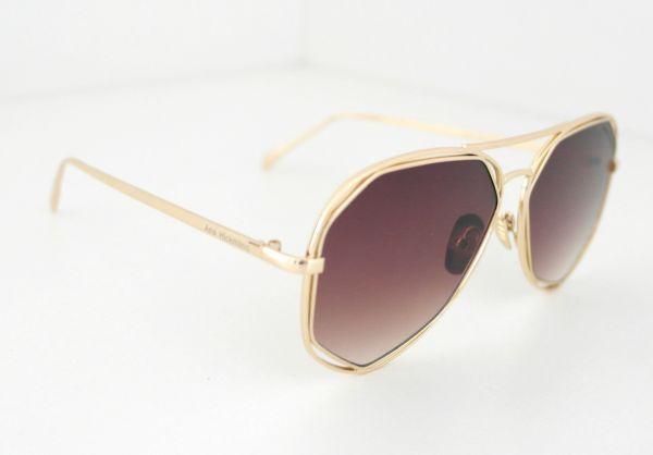 e0a20bf921638 Óculos de sol feminino Aviador Dourado Ana Hickmann Inspired - Daf Store