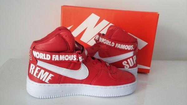 281877f34f005 Tênis Nike Air Force Supreme Vermelho - Outlet Ser Chic