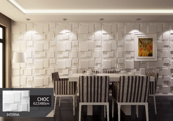 Revestimento Placas Decorativas 3D Board - Fibra de Bambu Original - Choc